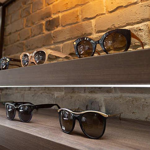 Frances Liddle sunglasses showroom